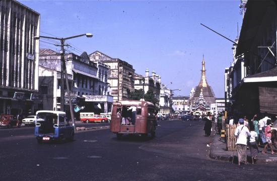 RANGOON : la pagode SULE en 1981