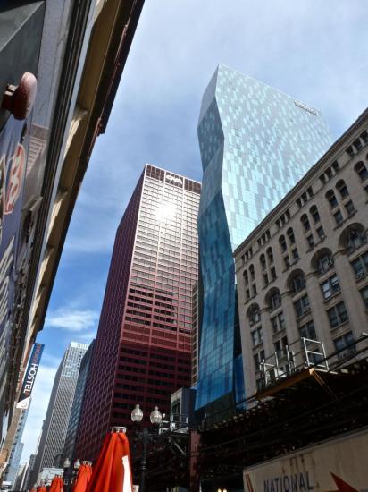 CHICAGO : juxtaposition d'imaginations d'architectes