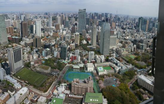 Panorama de TOKYO du haut de la Tour de TOKYO