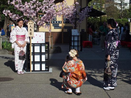 TOKYO : pose photo en habit de geisha à ASAKUSA