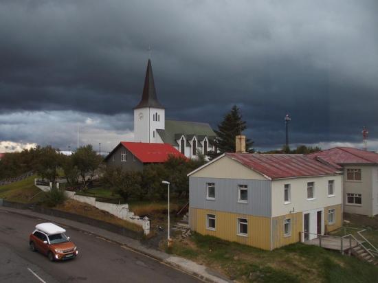 Borgarnes : église et maison typique