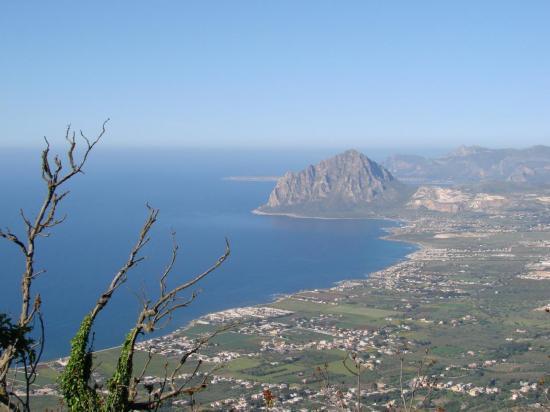 La côte ouest vue depuis ERICE