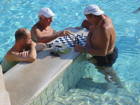 et les non moins célèbres joueurs d'échecs.