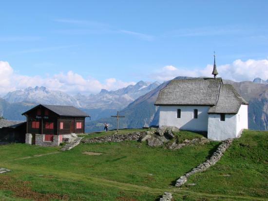 Eglise typique valaisanne à BETTMERALP