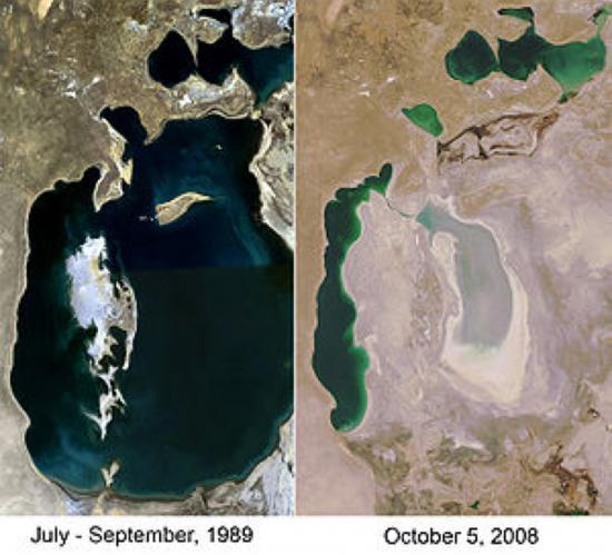 La mer d'ARAL a quasiment disparu en 20 ans !