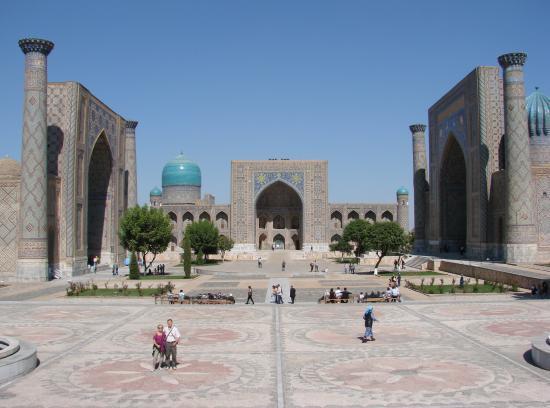 SAMARCANDE : la place du Registan