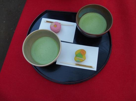 Le vrai thé vert de la cérémonie du thé