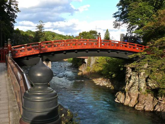 Le pont Shinkyo à  NIKKO