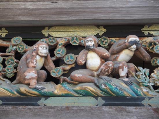 NIKKO : les fameux trois petits singes