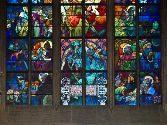 Les fameux vitraux d'Alfons Mucha