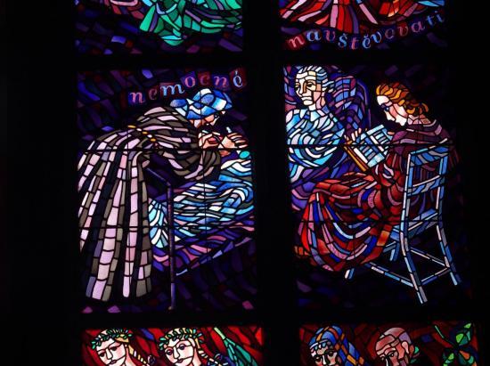 Vitraux dans la cathédrale Saint-Guy