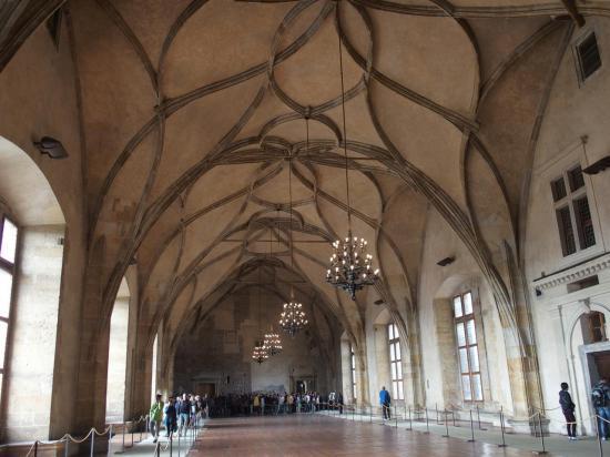 La salle Vladislav de l'ancien Palais Royal