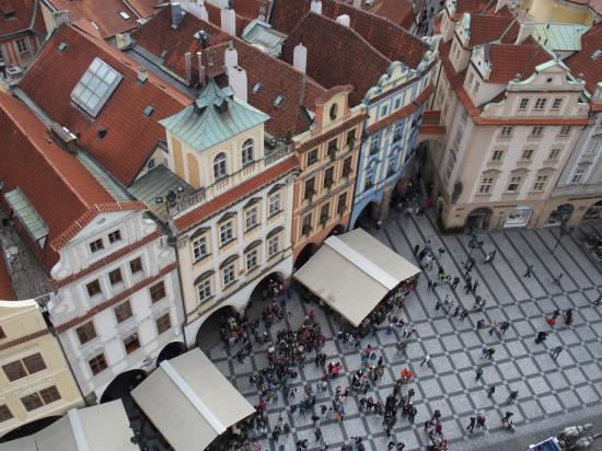 Toitures vues du haut de la tour de l'horloge